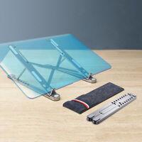 Laptop Stand Portable Heights Adjustable Desktop Cooling Folding Holder UK