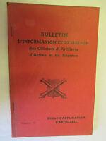 Bulletin d'information et de liaison des Officiers d'Artillerie Numéro 13