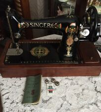 Vintage Singer Sewing Machine 66k With Case And Instructions 1916