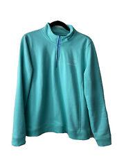 vineyard vines xl womens Vintage Whale Sweatshirt 1/4 Zip Pullover Green