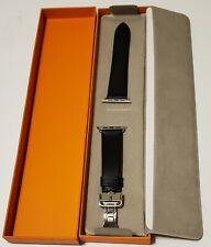 Hermès Apple Watch 44mm  Black  Single Noir deployment Buckle Band,