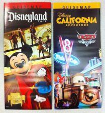 Disneyland & California Disney Guide Maps Summer 2013 Set  Sorcerer & Cars Land