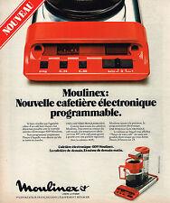 PUBLICITE  1977   MOULINEX  cafetière