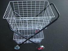 """HEAVY DUTY Shopping Trolley 2 BASKET 2 Swivel 5"""" wheels  2  fixed 6"""" wheels"""