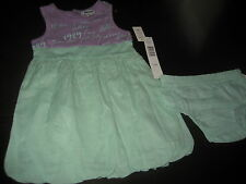 Girls Kids Dkny Short Sleeveless Dress Size 12 Months Msrp $42 Nwt