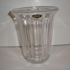 Vintage Made USA HUGE 24% Lead Faceted Crystal Vase Factory Flaw/Mark in Crystal