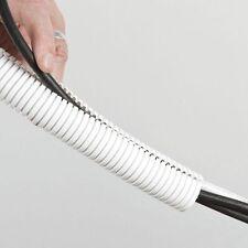 NEW 25mm WHITE Polypropylene flex split conduit, electrical cable tidy, 1 metre