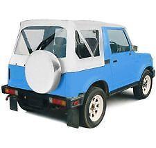 Suzuki Samurai Soft Top 86-94 OEM Replacement White Denim Smittybilt 98652