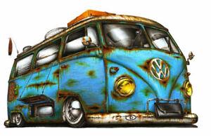 Campervan Hippy Love Peace Traveller Camper Nature Flower Power VW v-dub Tshirt