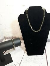 Crystal Bead Necklace Plastic Chain Jewellery With Matching stretch bracelet