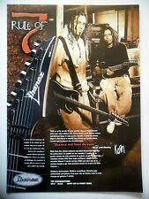 PUBLICITE-ADVERTISING :  Guitares IBANEZ Rule of 7  03/2001 Head & Munky,Korn