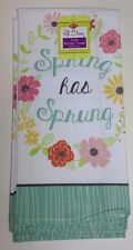 "Ritz Full Bloom 2 Kitchen Towels, ""Spring has Sprung"" New 100% Cotton"
