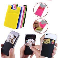 Silicone Mobile Phone / Car Smart Wallet Cash Opal Credit Card Holder 3M Pocket