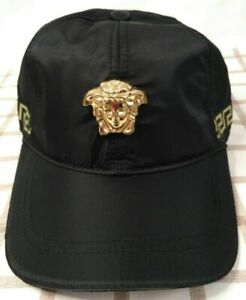 Versace Baseball Hat Adjustable Cap Black