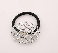 Fashion Women Elastic Headband Metal Ties Ropes Ring Ponytail Holder Accessories