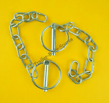 2 x Lynch Pin & Chain 8mm dia. pin x 40mm dia. ring for horse boxes and trailers