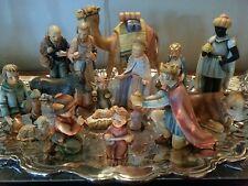Hummel Goebel 17 piece Christmas Nativity Set , 214 large