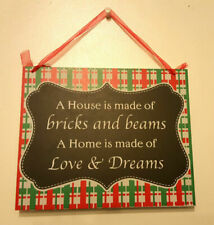 Wooden Home Sweet Home Decorative Wall Plaques