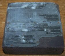 VINTAGE HOWELL TRUCKING CO PRINTERS TYPE BLOCK ROCHESTER NY BILL LETTER HEAD