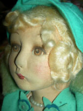 "Antique 22"" l'bd: Elegant Dean's Rag England jointed boudoir doll extremely RARE"