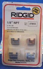"""RIDGID HANDHELD 12-R 1/8"""" 37855 HIGH SPEED PIPE DIE, NEW IN ORIGINAL PACK, NOS"""