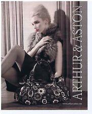 PUBLICITE ADVERTISING 114 2011 ARTHUR & ASTON maroquinerie