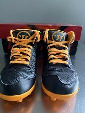 Bnwt Warrior Vex 2.0 Youth Black/Orange Lacrosse Cleats Size 2