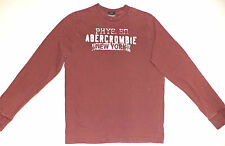 """ABERCROMBIE & FITCH L/S  PURPLE PULLOVER SHIRT """"PHYS. ED. NEW YORK""""  S    K#6965"""