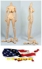 ❶❶1/6 Female Nude Figure Body N001 Large Breast Pale Skin Tone SHIP FROM U.S.❶❶