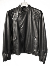 Firetrap 'Hawk' Faux Leather Biker Jacket Medium TD093 AA 01