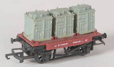 Hornby / Triang R340 British Railways 14t conflat with 3 containers