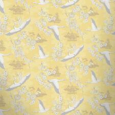 Bird Wallpaper Flower Temples Oriental Theme Floral Metallic Yellow Silver Rasch