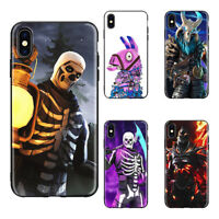 Fortnite Battle Royale games soft Silicone black cover phone case for iPhone