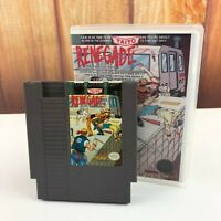 Renegade Nintendo NINTENDO NES Game In Plastic Box Case VTG Retro Free Ship