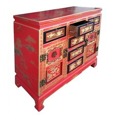 Beautiful RED Lacquer oriental Chinese  Cabinet sideboard