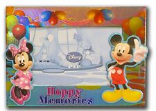 Disney Mickey & Minnie Mouse HAPPY MEMORIES Photo Picture Frame