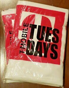 2x T-Mobile Tuesday Magenta & White Beach Towel