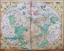 ORTELIUS Rare German Edition Netherlands Germaniae inferioris - 1573