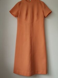 1960's Vintage Peach Mod Dress 6