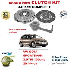FOR VW GOLF SPORTSVAN 2.0TDi 150bhp 2014->on BRAND NEW 3-PC CLUTCH KIT with CSC