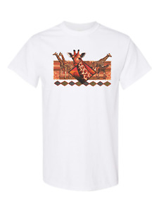 Nature Giraffe African Wildlife HoneVille Adult Unisex T-shirt