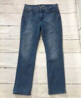 Lee Womens Jeans Perfect Fit Straight Leg Mid Rise Medium Wash Size 12