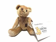 """Teddy Museum Stratford-Upon-Avon Loved to Pieces 7"""" Jointed Plush Bear"""