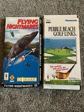 2x 3DO Games - Pebble Beach Golf Links & Flying Nightmares Both Longbox