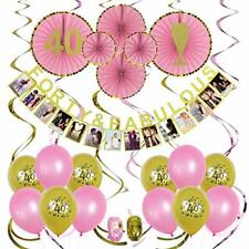 40th Birthday Party Decorations Forty & Fabulous Pink & Gold Party Supplies
