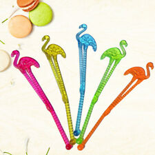 20Cm Tropical Flamingo Plastic Drink Stirrer Sticks Summer Party Cocktail Stir