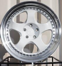 Varrstoen Es6 19X9.5 5X114.3 Et12 White Machined Lip (1 Wheel Only)