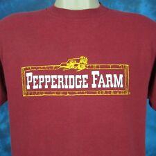 vintage 80s PEPPERIDGE FARM T-Shirt MEDIUM bakery bread cookie food soft thin
