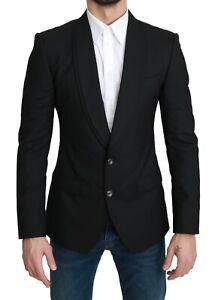 DOLCE & GABBANA Blazer Wool Black Single Breasted Formal IT46/ US36 /S