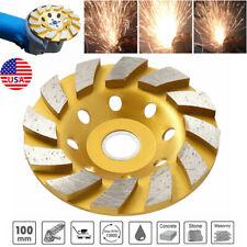 "US 4"" Gold Diamond Segment Bowl Cup Grinding Wheel Concrete Grinder Disc Tool"